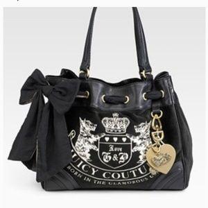 Juicy Couture Black Velvet Purse.